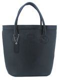 Oxford Leather Tote / Black