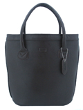 Oxford leather Tote / Dark Brown