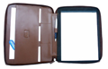 Casual leather padfolio / Antique Tan