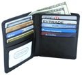 Double fold leather wallet / Black