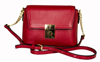 LEATHERBAY ARZANA  SHOULDER BAG DARK RED