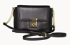 LEATHERBAY ARZANA  SHOULDER BAG BLACK