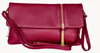 LEATHERBAY BELLA  CLUTCH DARK RED