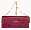 LEATHERBAY AVELLINO CLUTCH/DARK RED