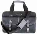 Turin - Leatherbay Commuter Briefcase / Black