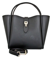 Cecita - Leatherbay Tote Bag / Black