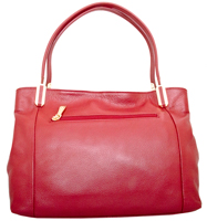 Garda - Leatherbay Tote Bag/Dark Red