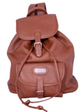 Leather Backpack with single pocket / Tan