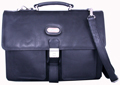 Leatherbay double pocket briefcase / Black