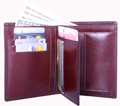 Double fold with detachable ID window / English Brown