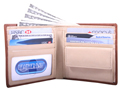 Double fold wallet with coin pocket / Tan natural