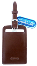 Leather Luggage Tag  / Antique Tan