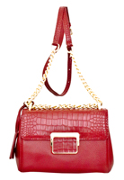 Masio - Leatherbay Shoulder Bag / Dark Red