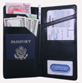 International Travel Leather Wallet - Black