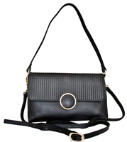 Zevio - Leatherbay Shoulder Bag / Black