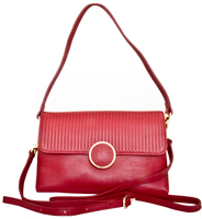 Zevio - Leatherbay Shoulder Bag /Dark Red