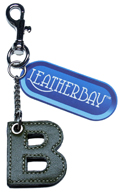 Leather charm / Letter B