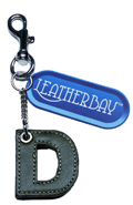 Leather charm / Letter D