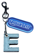 Leather charm / Letter E
