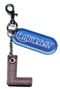 Leather charm / Letter L