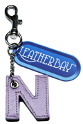 Leather charm / Letter N