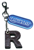 Leather charm / Letter R