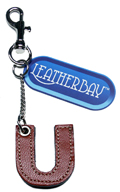 Leather charm / Letter U