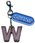 Leather charm / Letter W