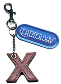 Leather charm / Letter X