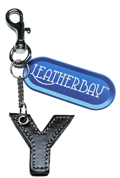 Leather charm / Letter Y